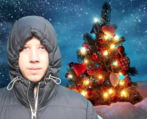 Achterwand greenscreen kerst 2