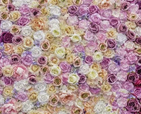 """Achterwand """"bloemenmuur"""""""